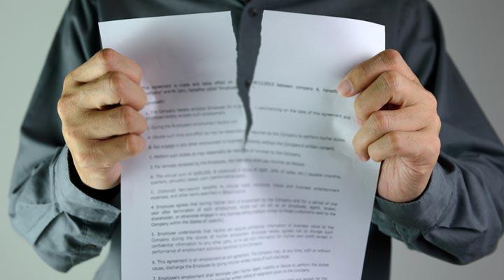 فسخ قرارداد,ابطال دادخواست