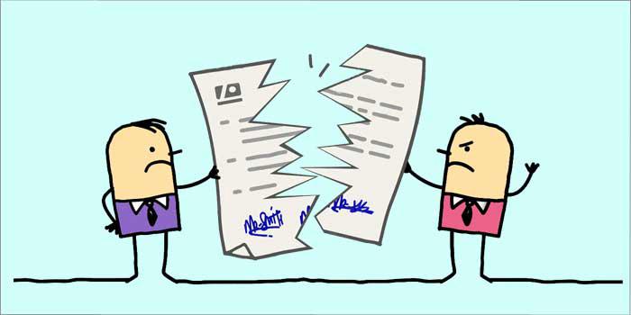 فسخ قرارداد چیست؟